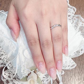 結婚指輪ペア【 最高の着け心地 】女性用は天然ピンクダイヤとH&Cカットのダイヤだけで作った【 引っ掛かりのない 】高級な指輪、MpS101ph