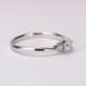 【Harmony】婚約指輪  人気の僅かなV字デザインの高級ダイヤモンドリング ハードプラチナ EHaPE02n-0.20ct,D,VS2,3EX,H&C