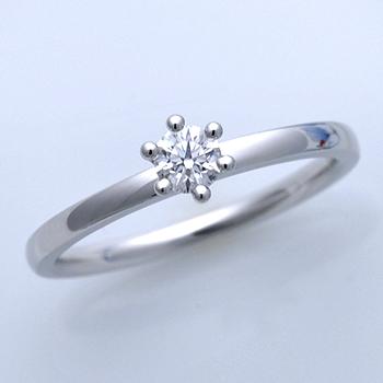 【ミルククラウン Milk Crown】婚約指輪 Pt  個性的なミルククラウンの丸い爪留、 EMC60-20DG2