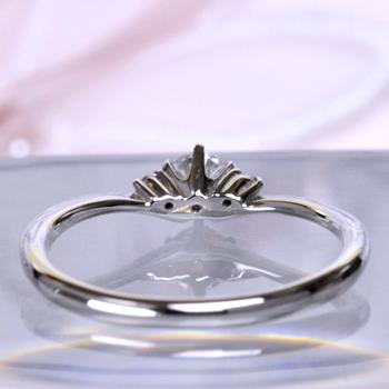 婚約指輪  ピンクサファイヤが2個入ったかわいいV字リング  EG22341ps-20H6