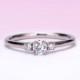 婚約指輪【 ハートの透かし模様がかわいい 】大きめのメレーダイヤ入り プラチナダイヤモンドリング EKK501-PT-20G-H6