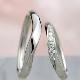 【月の鏡】結婚指輪ペア プラチナをたっぷり使った高級リング。レディースは大きめのH&Cカットダイヤ使用  MpG1S88h