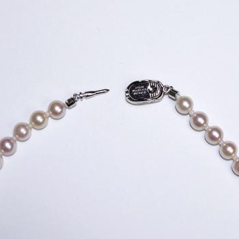 パールネックレス【ピンク系で短めの可愛いネックレス】(アコヤ真珠)6.0〜6.5mm  PeAN60-10