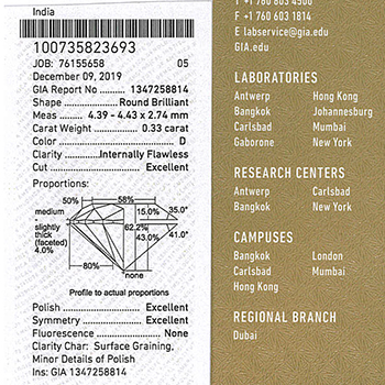 【最高級限定フェア特価】0.33ct,D,IF,3EX【GIA鑑定書付】H&Cメレダイヤを使用【最高級婚約指輪】