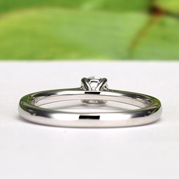 Pt950ハードプラチナ婚約指輪【Harmony Premium1 平和】 一日一日の小さな平和をふたりで積み重ねて、0.18,F,SI2,G