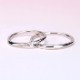 結婚指輪ペア  プラチナ  細身の緩やかなカーブデザインのリング MpTRM211n-212-Pt