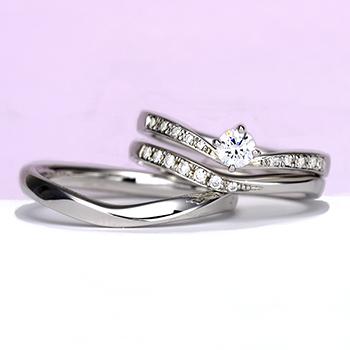 婚約指輪【Gisele ジセル 約束】Pt950H:ハードプラチナ  誓いの日、やっと出会えた運命の人とふたりだけの約束を交わす。0.20ct,F,VS2,3EX,H&C