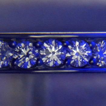 【永遠 Towa 】(高品質) ハーフエタニティーリング Pt 最高級カットH&Cの高級な指輪。 引っ掛かりが少なく丈夫な作りHE-C2004-02-hAA-Pt