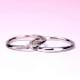 結婚指輪ペア  プラチナ  女性用には希少なピンクダイヤが入った細身の緩やかなウェーブデザインのリング MpTRM211p-212