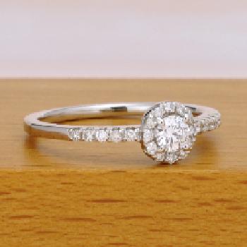 【特別価格】 【可愛いお花のデザイン】上品な高品質プラチナダイヤモンド婚約指輪 Pt ER115-0.20ct,D,VS2,3EX,H&C