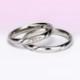 結婚指輪ペア Pt 【ピンクダイヤ+H&Cダイヤ】女性用は、ダイヤの部分が滑らかで引っかかりが少ないので長年使用する結婚指輪に相応しい MpO13DBphO13