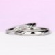 結婚指輪ペア Pt 【ピンクダイヤ+H&Cダイヤ】女性用は細いタイプ。ダイヤの部分が滑らかで引っかかりが少ないので長年使用する結婚指輪に相応しい MpO11DBphO13
