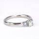 婚約指輪 両脇にアイスブルーダイヤモンド、ハートの透かし模様がかわいいダイヤリング EKK501b-20FF1-Pt