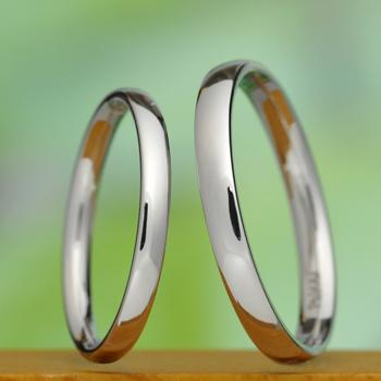 手作り鍛造【 匠 Takumi 】プラチナ 熟練の職人さんが丁寧に手作りしたシンプルで丈夫な結婚指輪ペア MpTE-HK2025