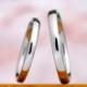 【 匠 Takumi 手作り】鍛造 プラチナ 熟練の職人さんが丁寧に手作りしたシンプルで丈夫な結婚指輪ペア MpTE-HK2025