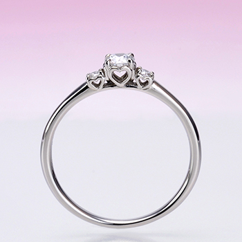 ★特別価格☆ 【絆 ツインダイヤモンド】3点セットプラチナ ツインダイヤモンド結婚指輪と高品質婚約指輪のセット BsKK501hTW02-20DE1-Pt