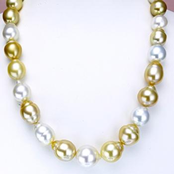 南洋白蝶真珠マルチカラーパールネックレス