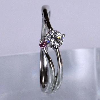 【可憐  Karen】ピンクダイヤとハートの透かし模様がかわいい E2082p-20DF2