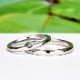 結婚指輪ペア【Harmony Premium1 平和】Pt950H 一日一日の小さな平和をふたりで積み重ねて
