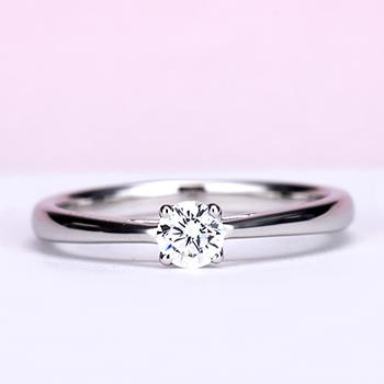婚約指輪【Harmony Premium1 平和】Pt950H 一日一日の小さな平和をふたりで積み重ねて、0.20,D,VS2,3EX,HC