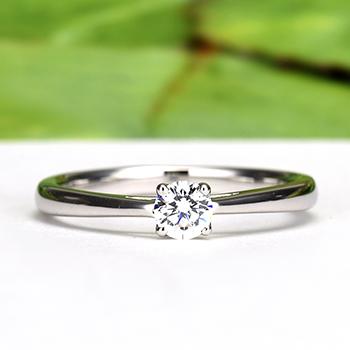婚約指輪【Harmony Premium1 平和】Pt950H 一日一日の小さな平和をふたりで積み重ねて、0.20,G,SI2,G