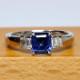 サファイア指輪(プラチナ) スッキリしたデザイン。普段使いにも向いています。KP22068
