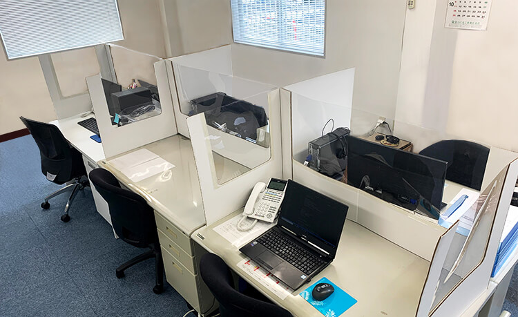 【 簡易デスク透明タイプ 】パーテーション : 窓3面タイプ  飛沫感染対策