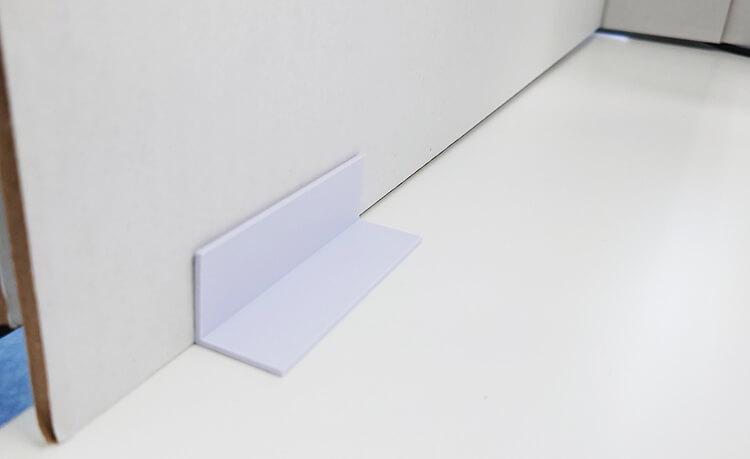 パーテーション倒れ防止パーツ 両面テープ付き【4個1セット】
