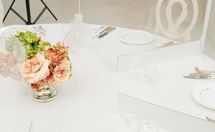 【円卓タイプ : 幅50cm】  パーテーション   (10個セット)  結婚式やイベントに 飛沫感染対策商品