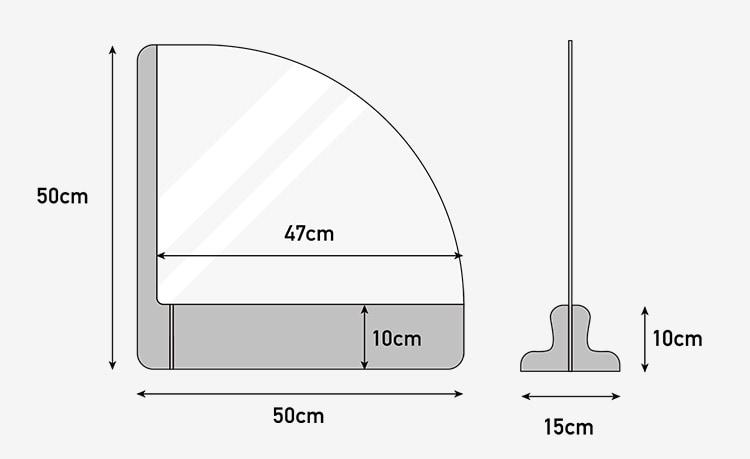 【 円卓タイプ 】  ダンボールパーテーション 幅50cm 幅60cm  (10個セット) 飛沫感染対策商品