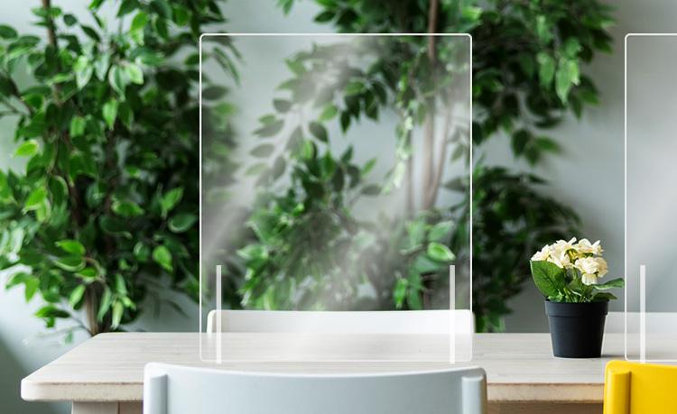 【アクリルパーテーション(窓なし)】 幅50cm 5枚セット 飲食店の飛沫感染対策に アクリル板 卓上パーテーション W500cm  コロナ対策