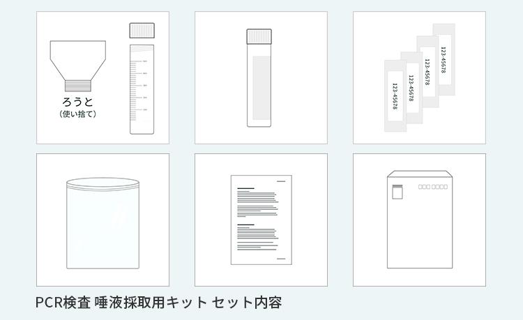 【 PCR検査 唾液採取用検査キット 】 5個セット 新型コロナウイルス検査 簡単検査キット
