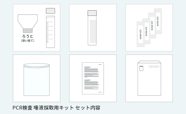 【 PCR検査 唾液採取用検査キット 】 20個セット 新型コロナウイルス検査 簡単検査キット