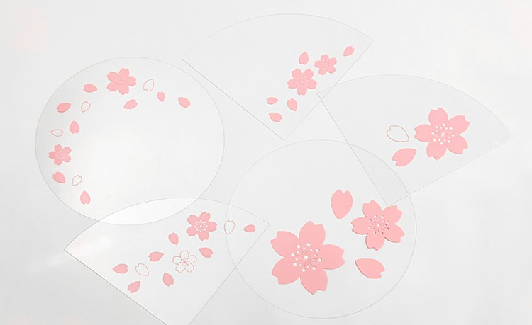 【 handy(ハンディ):桜ver 】 - 手持ちタイプのおもしろシールド   ハンディフェイスシールド  お花見やイベントにも