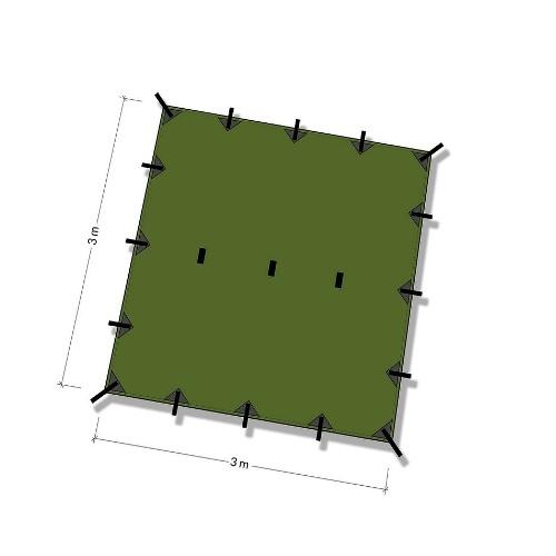 DDハンモック DD Tarp 3x3