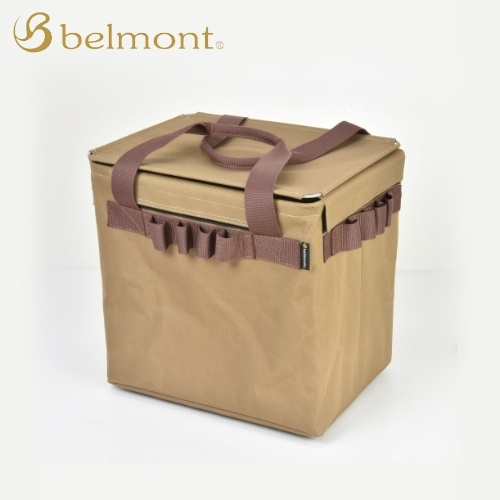 ベルモント Belmont ワンタッチツールバスケット キャメルブラウン BM-386