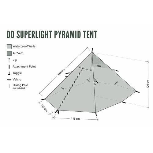 DDハンモック  DD SuperLight Pyramid Tent