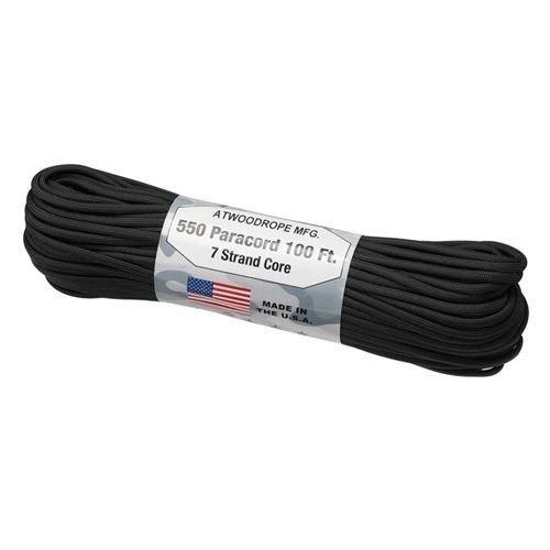 アットウッドロープ ATWOOD ROPE MFG.  パラコード ブラック