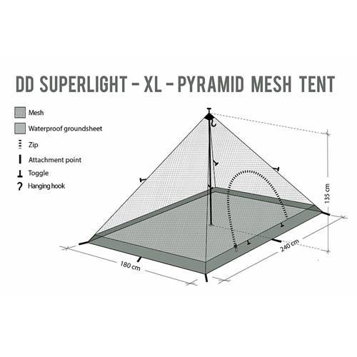 DDハンモック  DD SuperLight XL Pyramid mesh Tent