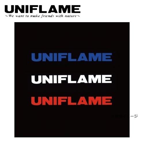 ユニフレーム UNIFLAME UFロゴステッカー大 トリオ