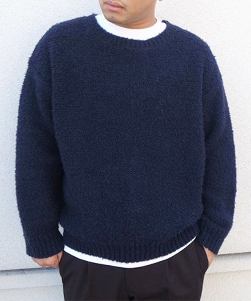 FUR CREW NECK KNIT