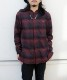 CHECK SLIIT FRY FRONT SHIRT