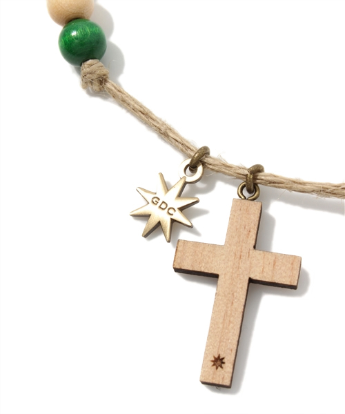 cross wood necklace