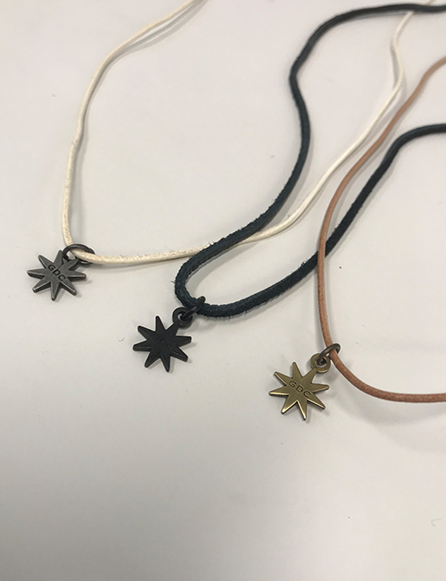 octagon leather necklace
