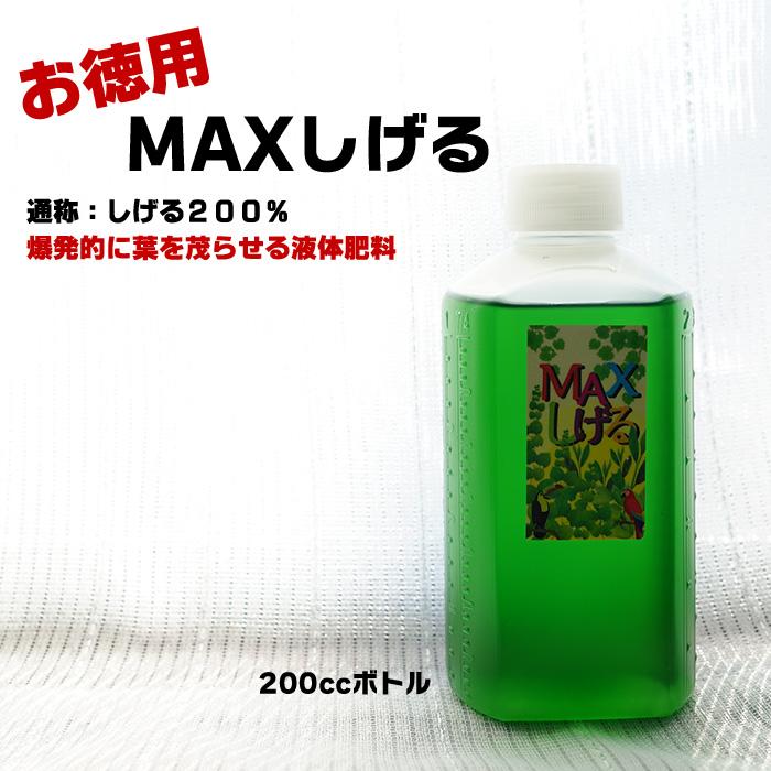【お徳用】200cc MAXしげる 爆発的に葉を茂らせる液体肥料 観葉植物や多肉植物、エアープランツもOK!