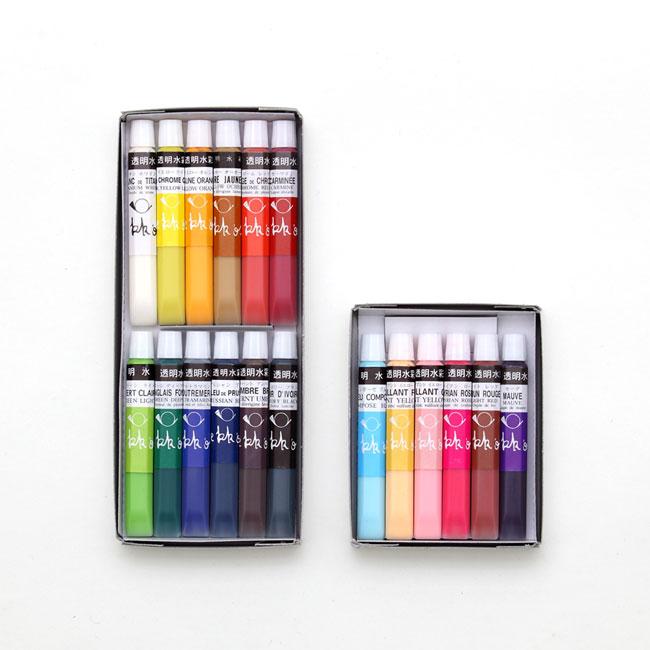 透明水彩絵の具 基本18色セット