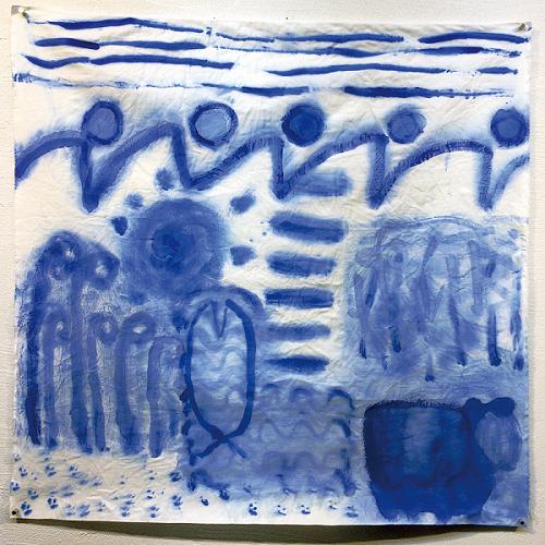 色と選書と絵画の企画展作品(7月)