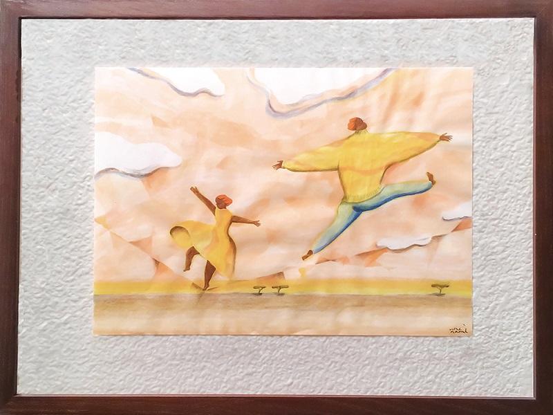 色と選書と絵画の企画展作品(10月)