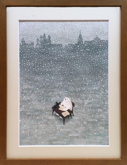 色と選書と絵画の企画展作品(2月)