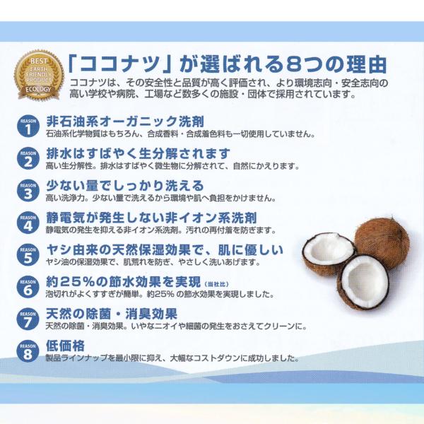 オーガニック洗剤 ココナツ 4L